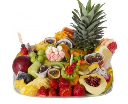 מגש פירות מרובע